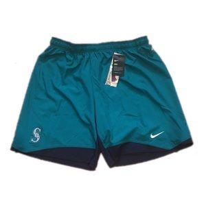 Seattle Mariners Nike Men's Dri Fit Shorts XXL 2XL